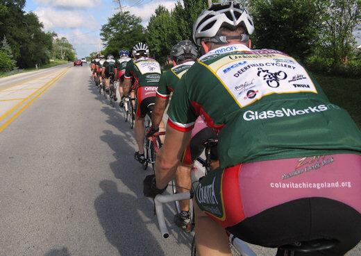 Bisiklet grup sürüşü örneği